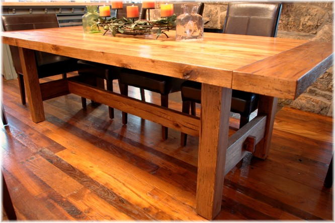 Westchester reclaimed antique wood custom dining table furniture