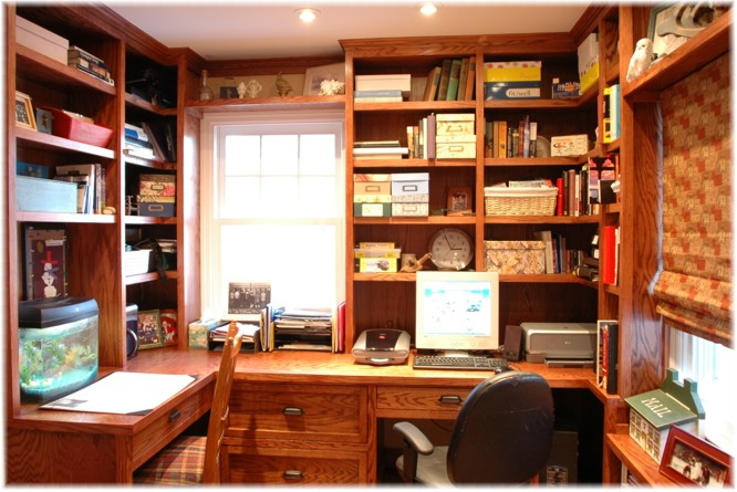 Custom design built ins home office craftsman or any style for Craftsman style office