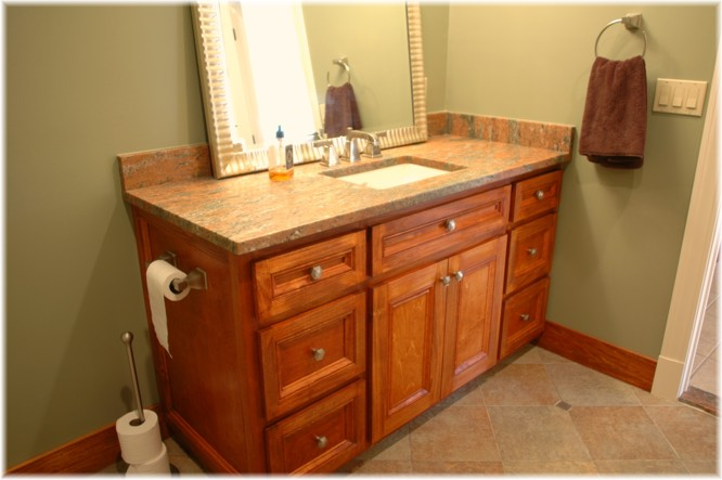 Awesome Custom Design Build Bath Vanity Cherry Wood Westchester Ny For Your